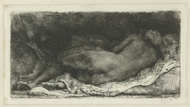 Rembrandt,  Reclining   Nude , 1658