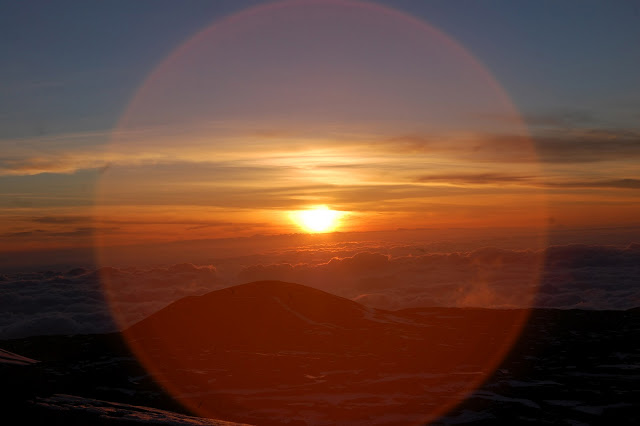 Mauna Kea, Hawaii. 13,000 feet above sea level.