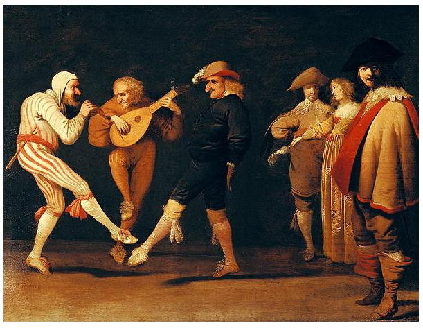Pieter Quast, Comedians Dancing, 1630