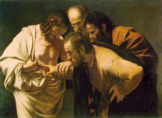 Caravaggio, The Incredulity of Saint Thomas , 1602