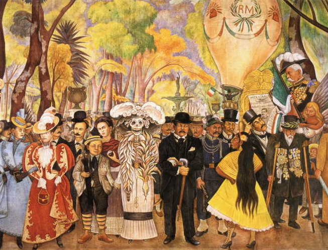 detail of Diego Rivera, Dream of a Sunday Afternoon in Alameda Park, 1948