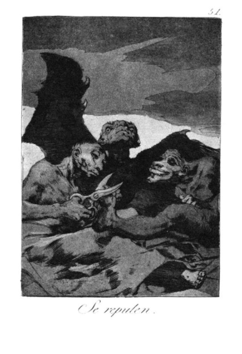 Goya,  They Spruce Themselves Up , 1799