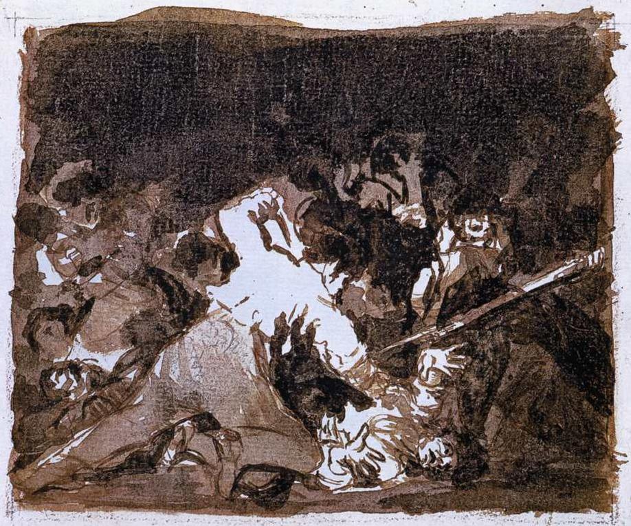 Francisco Goya,  War Scene , 1812