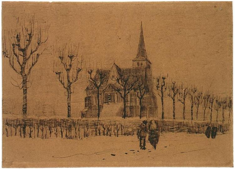 Vincent van Gogh,  Landscape with a Church , 1883
