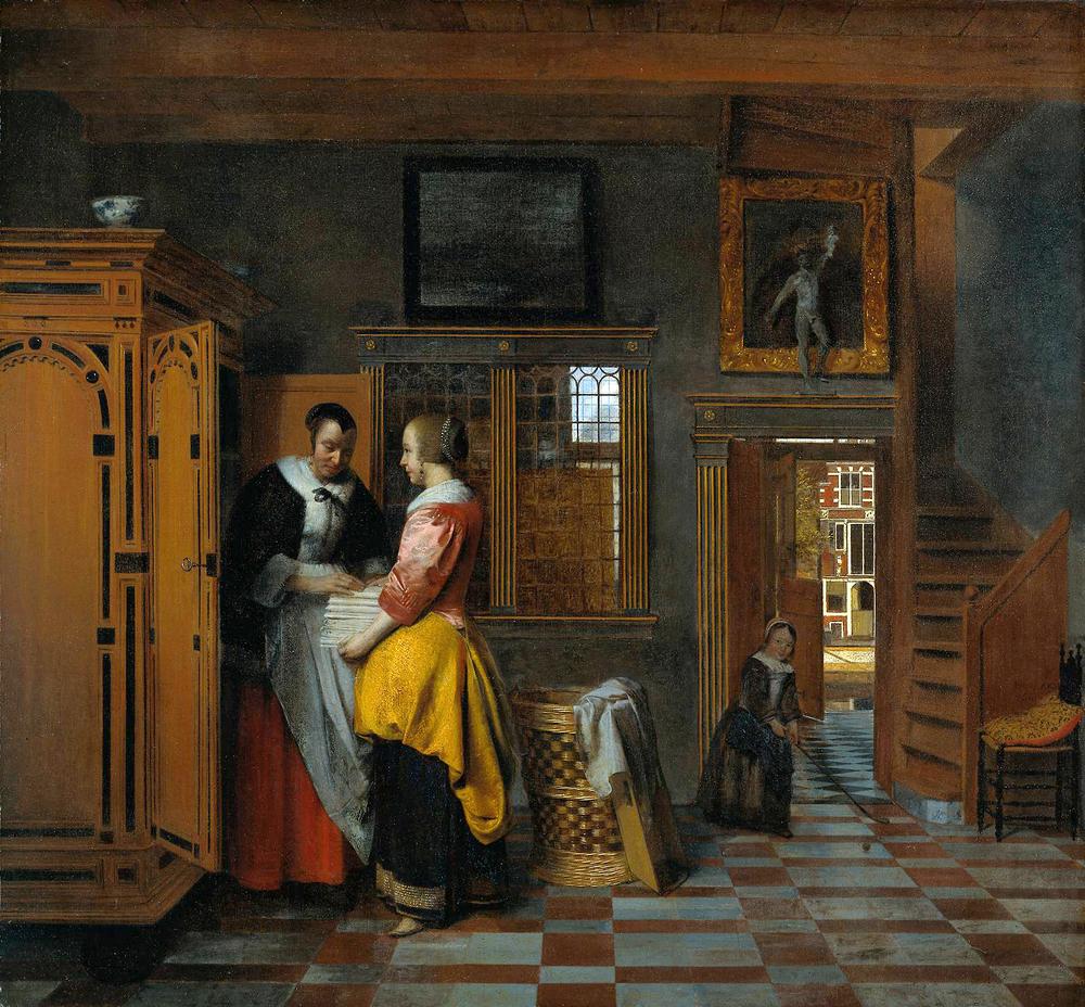 Pieter de Hooch,  The Linen Chest ,1663
