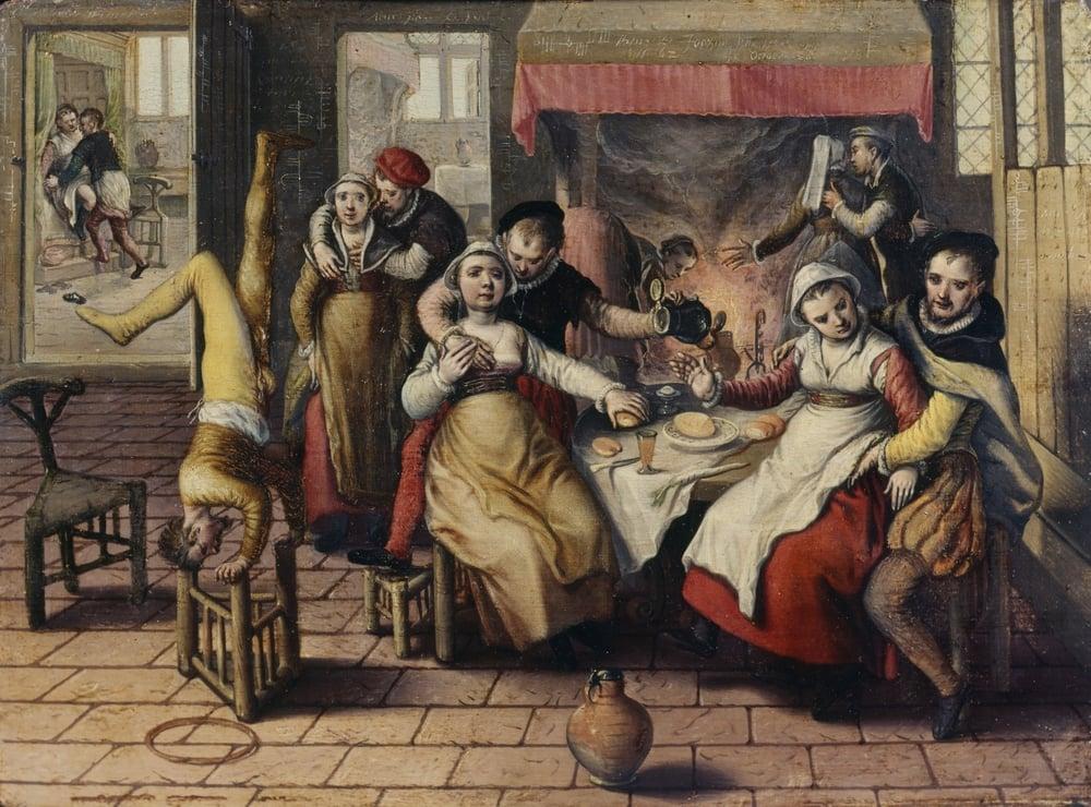 Joachim Beuckelaer, Brothel , 1562