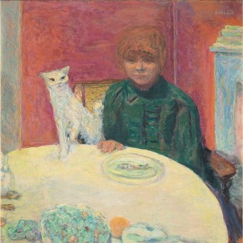 Pierre Bonnard,  La Femme au Chat , 1912