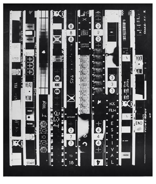 Bruce Conner, New York Film Festival poster, 1965