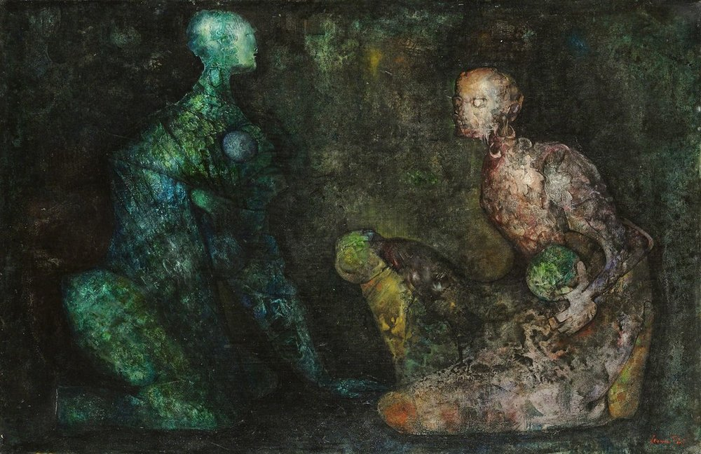 Leonor Fini,  Colloque minerale,  1938