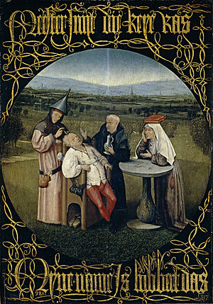 Hieronymus Bosch,  The Cure for Folly , 1475–80