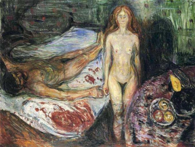 Edvard Munch,  The Death of Marat , 1907