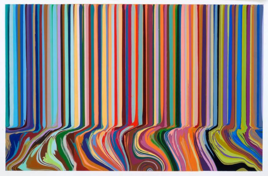 Ian Davenport,  Colourcade Buzz , 2015