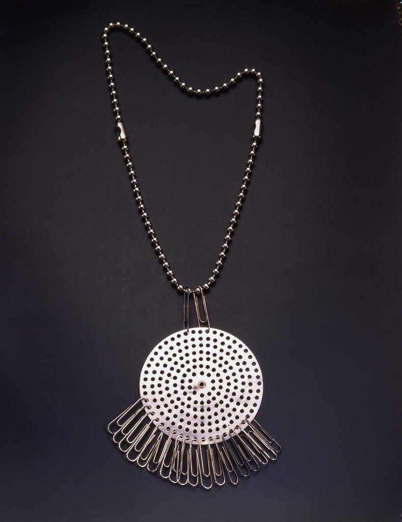 Anni Albers, Necklace, 1940. Drain strainer and paper clips.