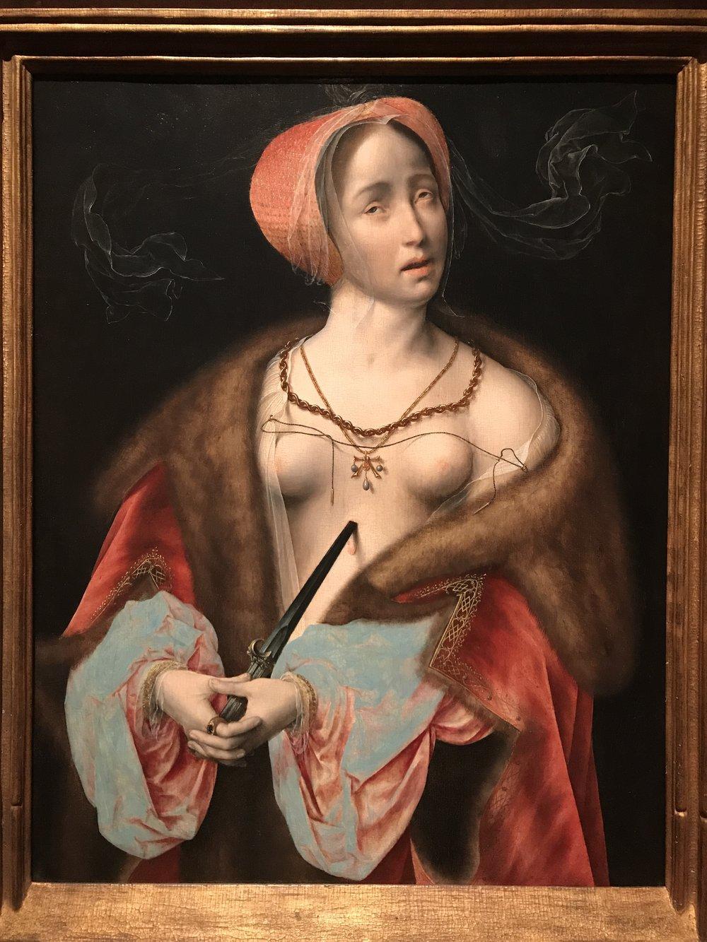 Joos van Cleve, Lucretia, 1525