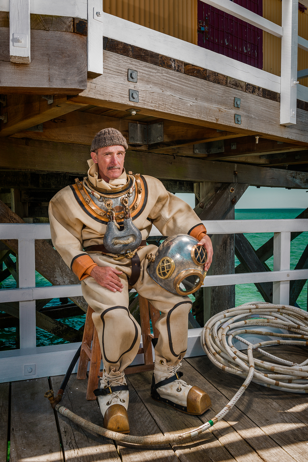 Standard Dress Diving Suit with Warren Jackman