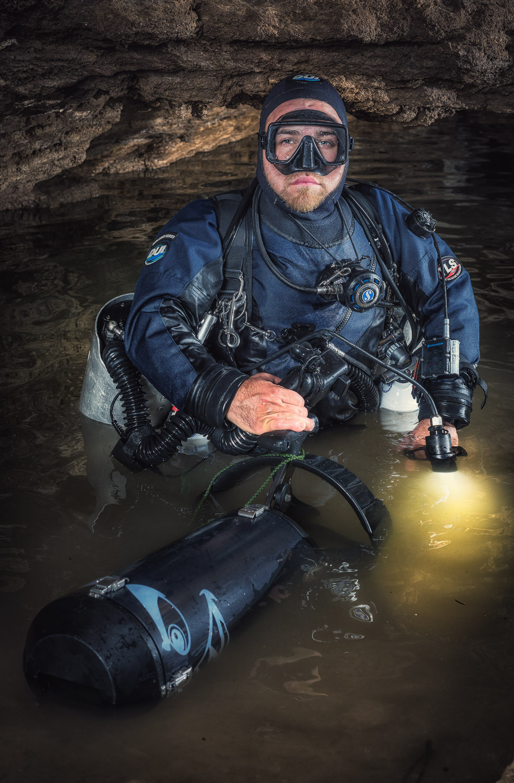 Bradley Dohnt, Cave Diver, Olwolgin Cave, Hampton Tablelands, WA