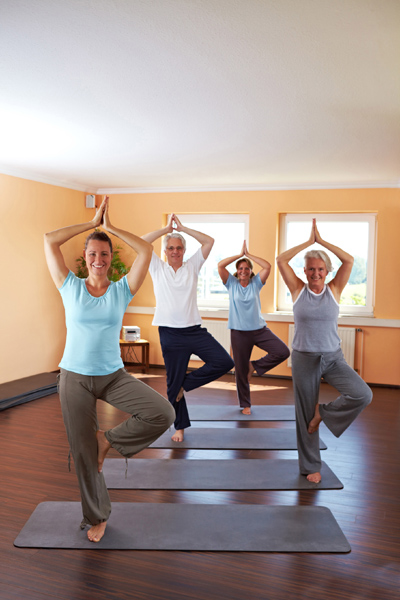Yoga classes are clean and sanitized by SanMar Building Services