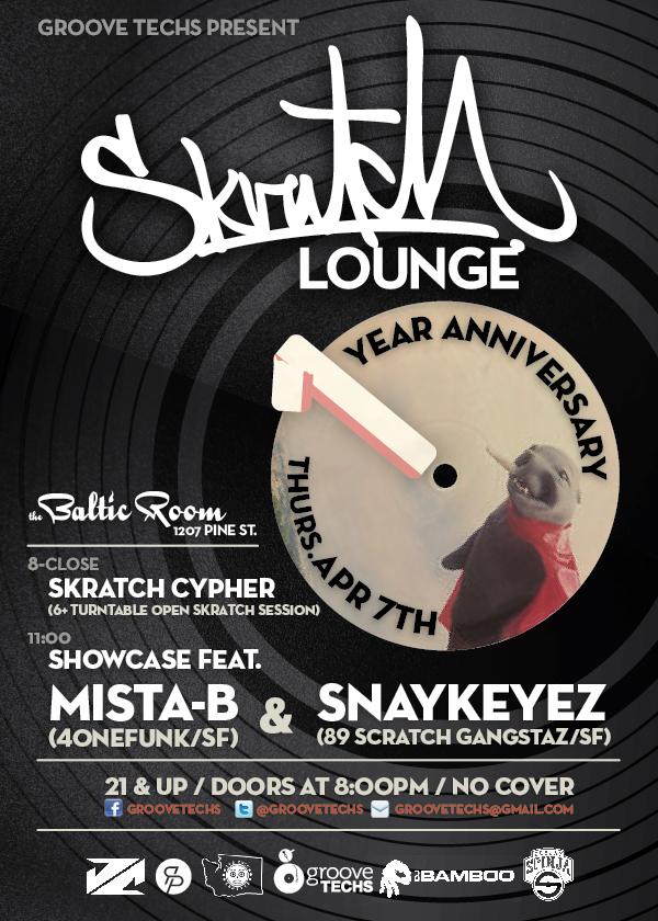 April 2011:  Mista-B & Snaykeyez, Skratch Lounge 1-Year Anniversary