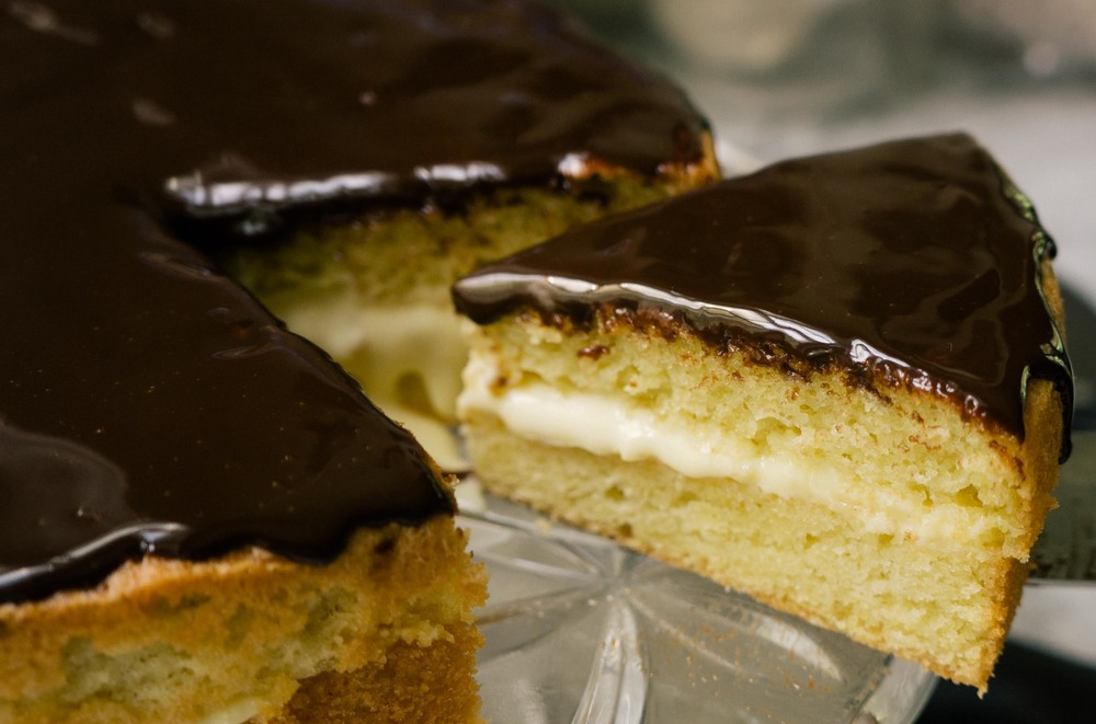 Gluten Free Boston Cream Pie The Custard Recipe Makes Enough To Fill Cake And A Bit Extra I Doubt Youll Have Trouble Getting Rid Of It