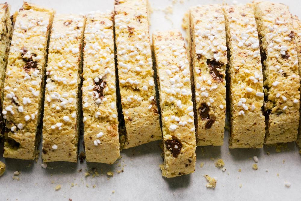 Saffron Biscotti with Dark Chocolate — Love, Cake