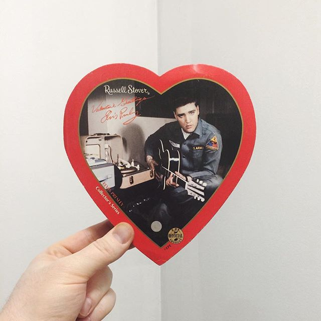 Love me tender, love me sweet, never let me go.  Happy Valentine's Day, friends!  #yegwedding #yegweddings #antiquemallfind #elvispresley #valentines #valentinesday