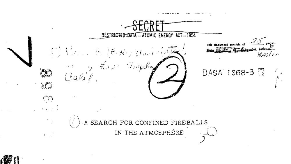 A Search for Confined Fireballs in the Atmosphere #1, 2018