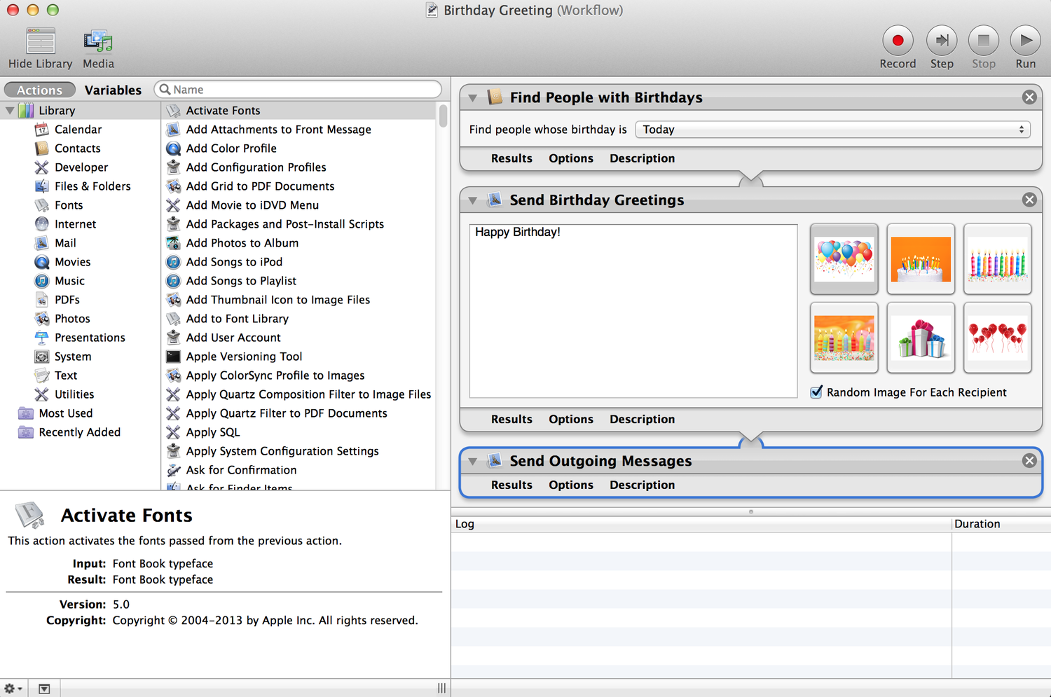Automator: Scheduling Workflows to Run Automatically