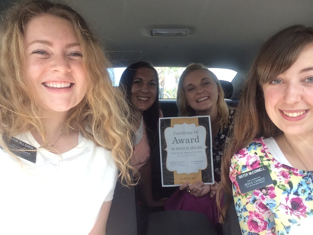 We won miles for being the cleanest car (that was a miracle)