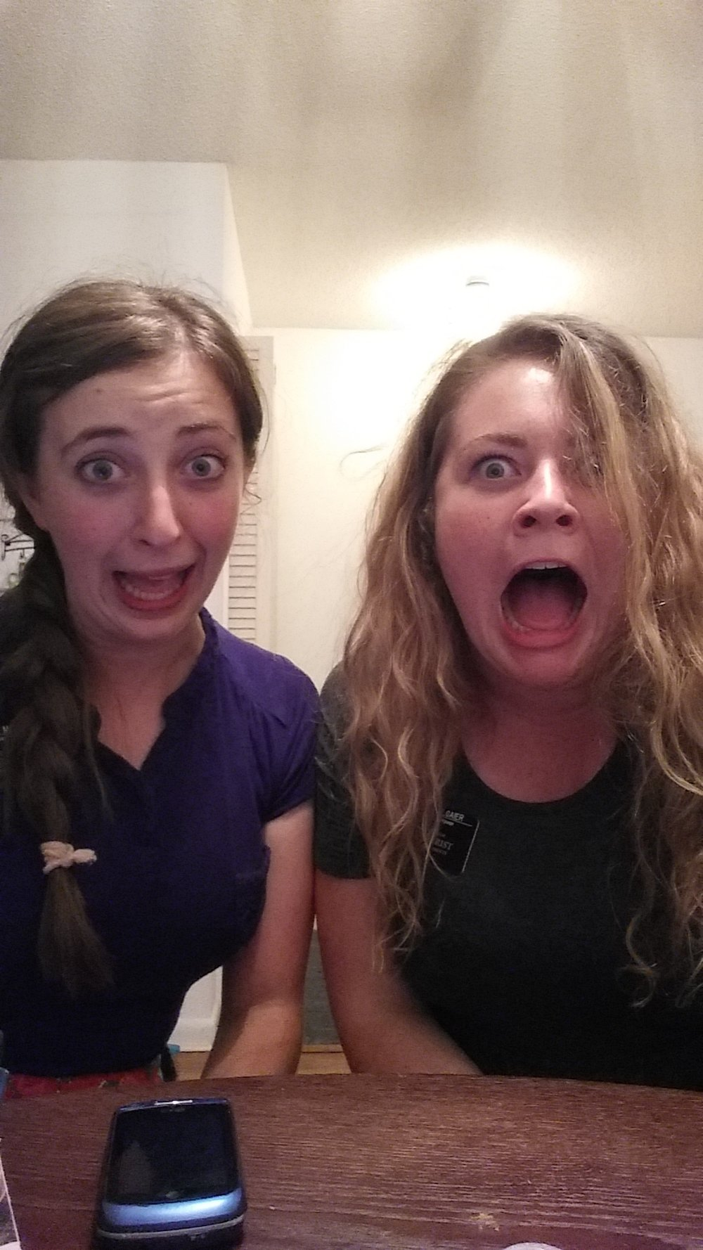 Here's this super attractive one during our conference call where we found out we were being evacuated