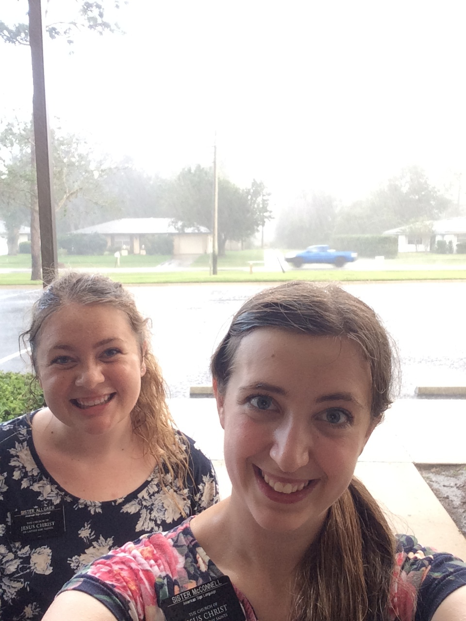 We got rained on...what else is new?