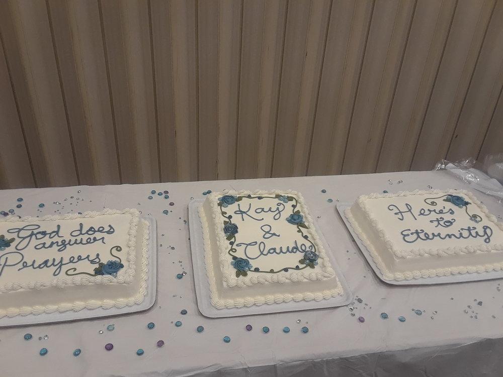 The wedding cakes we accomplished