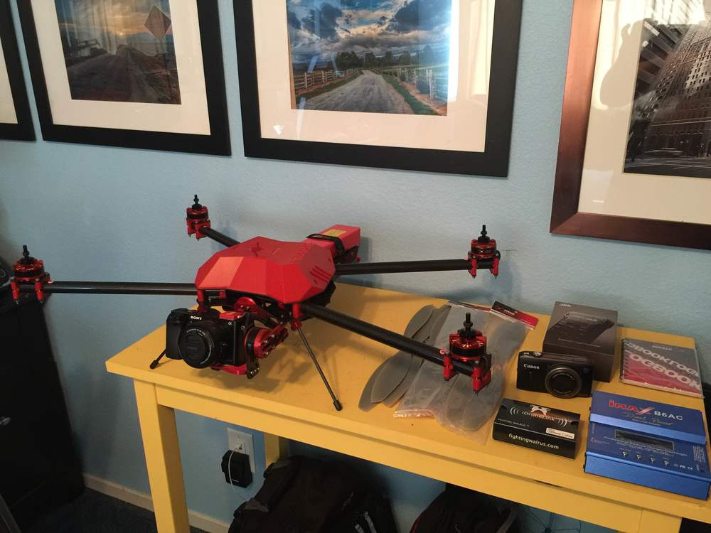 StediDrone Mavrik X4 with Pixhawk FC Sony a6000 and Canon SX260 for Aerial Mapping and Photogrammetry.