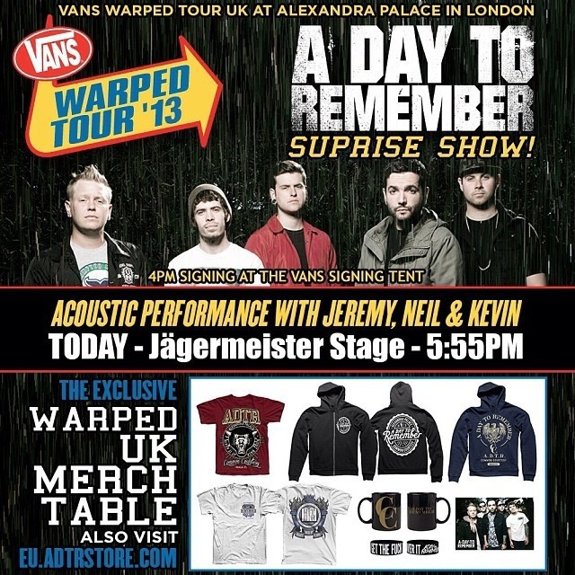 TELL ALL YOUR ADTR LOVING FRIENDS!!! #warpeduk #adtr #adaytoremember