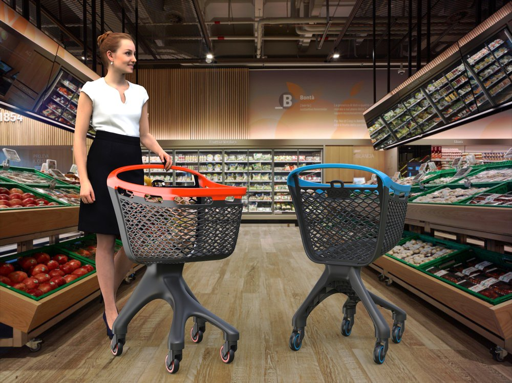 Composites Shopping Cart - fullframe made in fiber reinforced pp