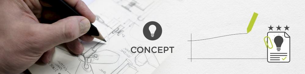 De ideeën worden omgezet naar vernieuwende concepten die afgetoetst worden aan het eisenpakket (designbrief)