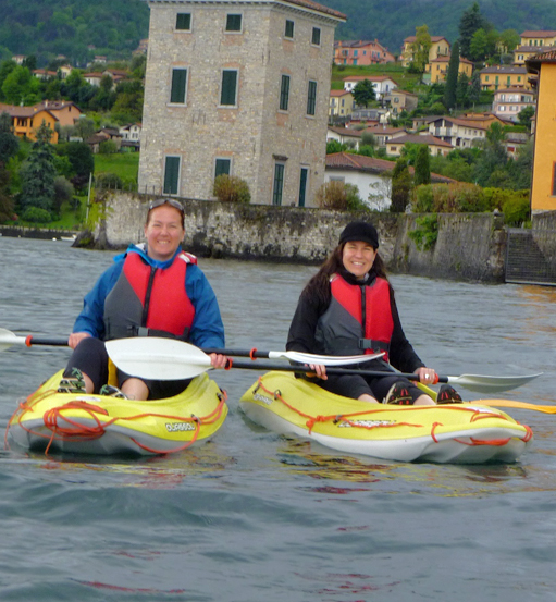 Kayaking on Lake Como
