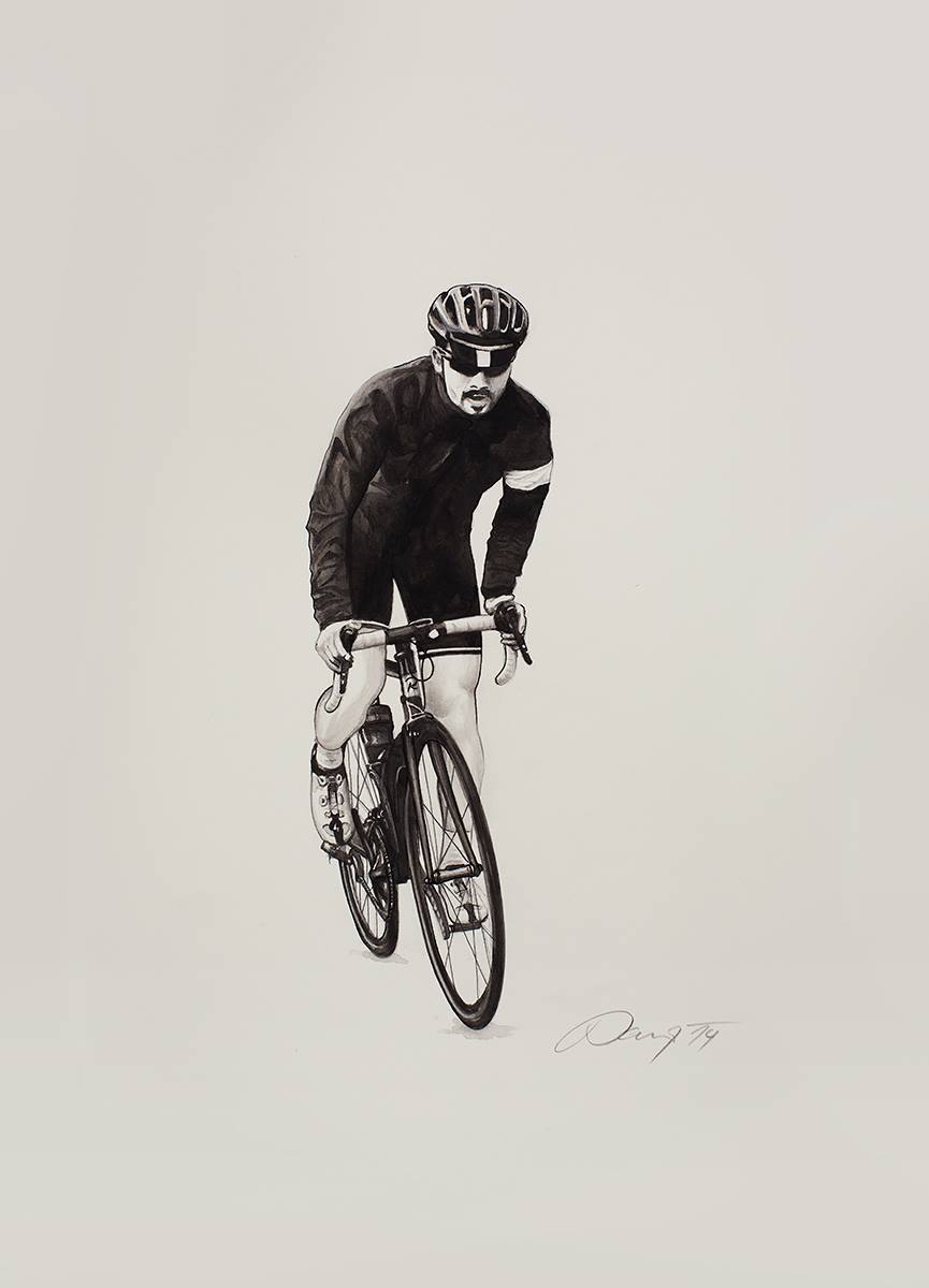 This morning, I received a watercolor painting from the Czech Republic. I am deeply touched. Though we've never met, we both love cycling, art and Rapha.   Thank you   Jirka Parizek  , this is a really wonderful and unexpected gift.    Rapha for us, is not only a cycling brand. She is a sphere of life that links all who love cycling, art and sharing ideas.   Thank you, Rapha, for letting us expand our spher  e of life and vision.    -   AHsien Yen