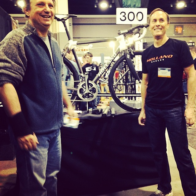 Bill Holland and Mike Lopez present their passion project.. The Holland Carbon HC! #nahbs2014