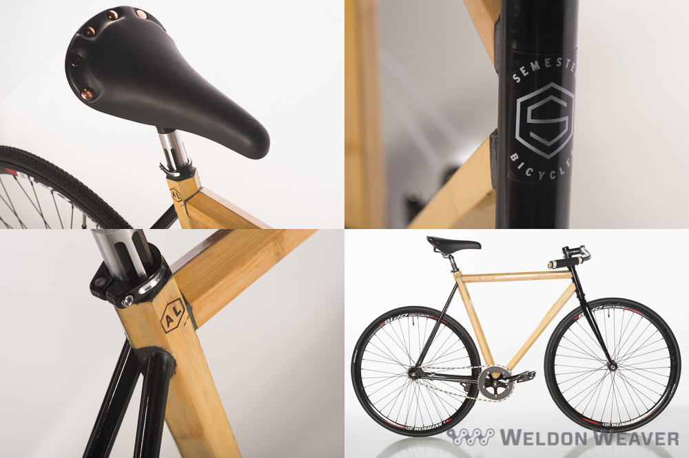 "Our friends at   Hero Bike   reported that one of their hexagonally-shaped tube bamboo bikes was stolen from their booth. It's a men's medium size ""Semester"" model with a Weinmann wheelset, single-speed and coaster brake, custom cotton-twill tape over foam grips and wine-bottle cork end-plugs. These distinctive features should make it easier to identify. above is an identical bike:"