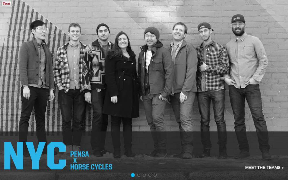 Come Party! Join Horse Cycles and Pensa as we reveal the design of our new URBAN UTILITY BIKE for The Bike Design Project - a bike design competition that partners five high-level design firms with bicycle craftsmen in 5 US cities to collaboratively develop the next-wave urban bike. Come represent New York City and be the first to see the newly crafted bike and meet the team.  Enjoy SNACKS and Exclusive Custom BEER brewed by Captain Lawrence and Deschutes Brewery.  Giveaways from Levi's, Nutcase Helmets and Chrome industries. WHEN? : July 25th, 2014 6-9pm WHERE? : The Dumbo Loft & Dumbo Triangle. 155 Water St. Brooklyn, ny 11201
