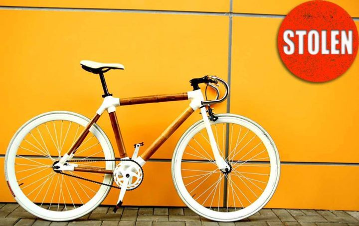 This bike is stolen in Cheung Sha Wan, Hong Kong. It's probably the only fixed gear bike that's made out of bamboo tubes here. Please keep an eye for it and spread the news. Hopefully we can find it back for the owner. https://www.facebook.com/bamboobikehongkong/photos/a.611781068967101.1073741829.571568506321691/612292508915957/?type=1&pnref=story