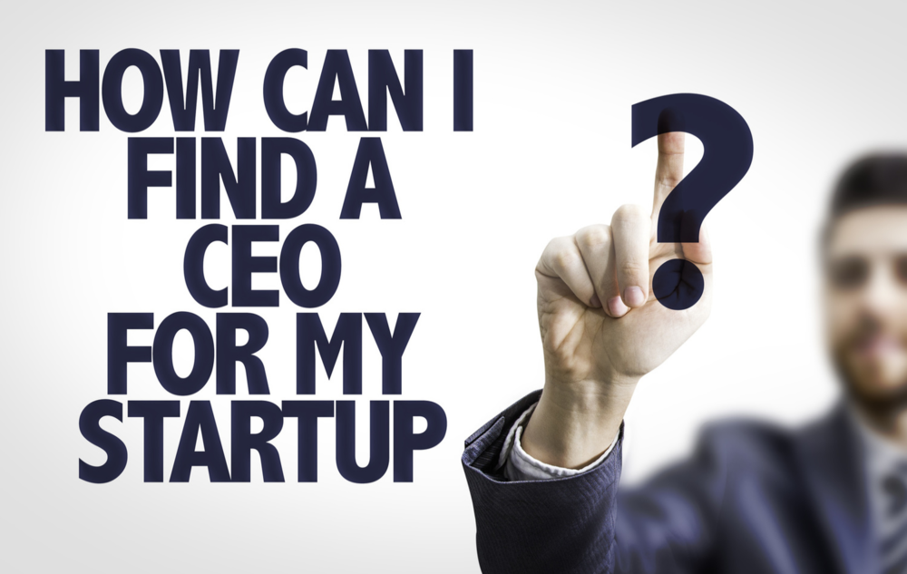 Business man pointing: How Can I Find a CEO For My Startup?