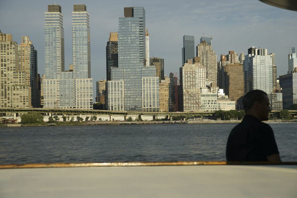 East Side of Manhattan and right side of Louis's head.