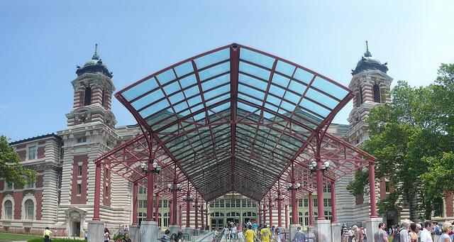 Ellis Island Entrance by  Michael Gray  via creative commons