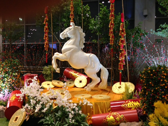 Singapore Changi Airport  celebrates the Year of the Horse.