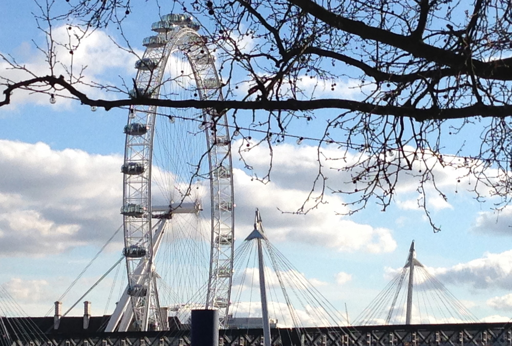 Can it be that spring is around the corner? It certainly looked like it in London today.