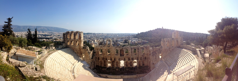 Odeon of Herodes Atticus. I would love to attend an Athens Festival event here someday!