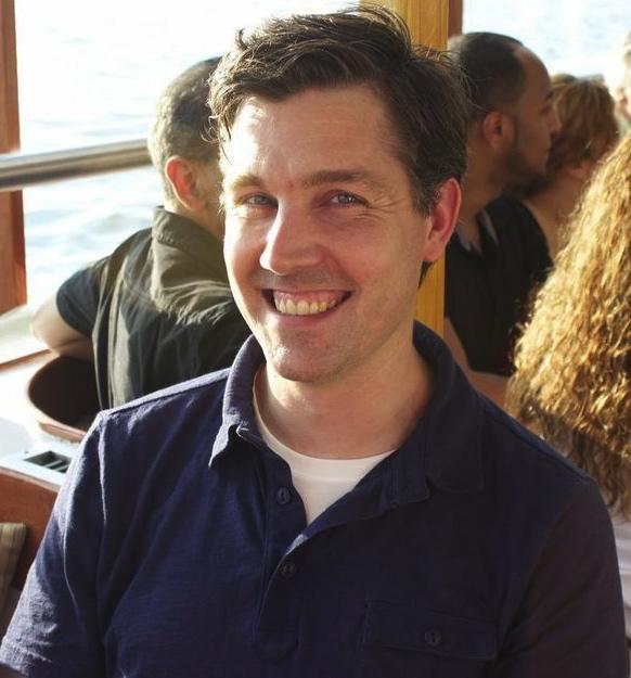 Matt Bray on a boat.