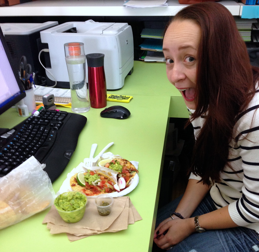 Former paralegal now summer associate Carolyn is as excited about tacos as she is to be back at D&B. Okay, maybe more excited about tacos. Understandably.