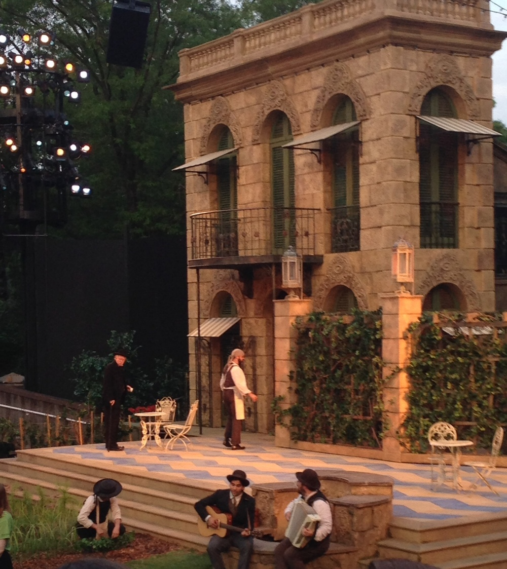 From The Public Theater's  Shakespeare in the Park . an annual summer tradition here in New York City.